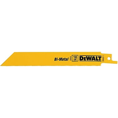 DeWalt® Bi-Metal Straight Back Reciprocating Saw Blade, 3/4 in (W), 18 TPI
