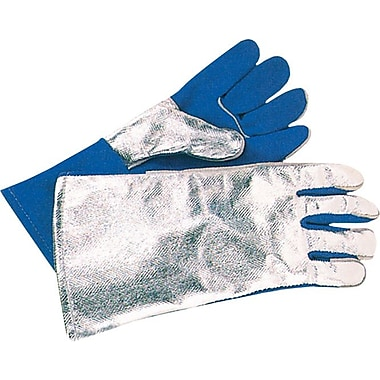 Anchor Brand® Split Cowhide Front Welding Gloves, Aluminum Back, Large, Blue Front