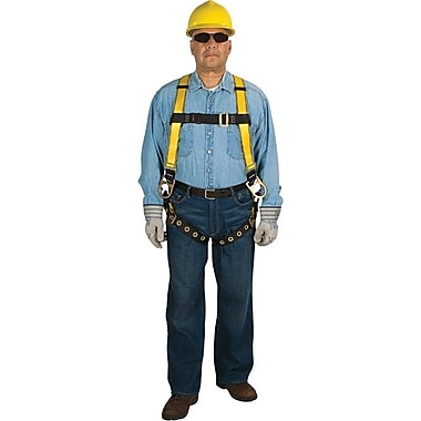 Workman® 3D-Ring Back And Hip Yellow Polyester Safety Harness, Standard