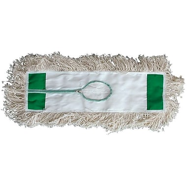 Magnolia Brush White Cotton Yarn Bristle Industrial 4 Ply Looped End Dust Mop Head, 36in. (OAL)