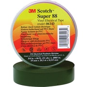 Scotch® Black PVC Backing 88 Electrical Tape, 1 1/2 in (W), 44 ft (L), 8 1/2 mil (T)