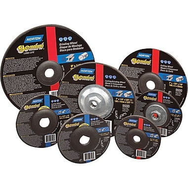 Gemini® Alumina Type 27 Depressed Center Grinding Wheel, 4 1/2 in ((OD)), 1/4 in (T), 5/8-11 Arbor