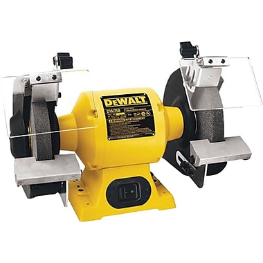 DeWalt® Cast Iron Base Heavy Duty Bench Grinder, 3/4 hp, 3600 rpm, 8 in (Dia) Wheel