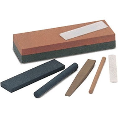 Norton™ Gray Silicon Carbide Combination Grit Abrasive Benchstone, 6 in (L) x 2 in (W) x 1 in (H)