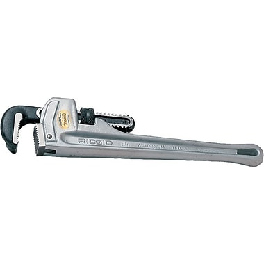 Ridgid® Aluminum Straight Pipe Wrench, 18 in (L), 2 1/2 in Opening