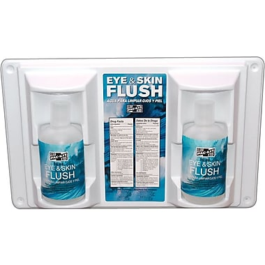 Pac-Kit® Twin Bottle Emergency Eye Flush Station, 16 oz