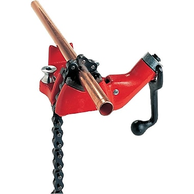Ridgid® Rugged Cast-Iron Base Top Screw Bench Chain Vise, 1/4-6 in Capacity