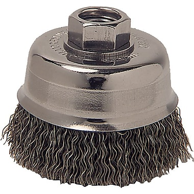 Anchor Brand® CS Wire Crimped Cup Brush, 3 in (Dia), 0.014 in (Dia) Bristle, 2 3/4 in (L) Trim