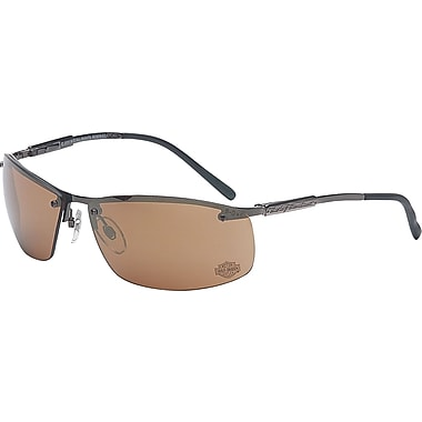 Harley-Davidson® HD 700 ANSI Z87 Dual Lens Safety Glasses, Amber