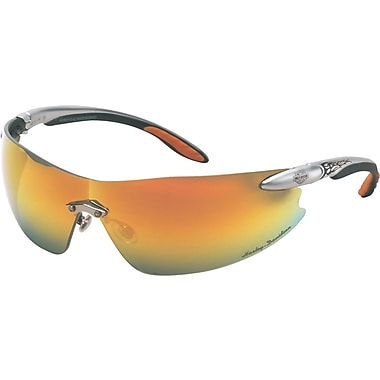 Harley-Davidson® ANSI Z87 HD 800 Safety Glasses, Orange Mirror