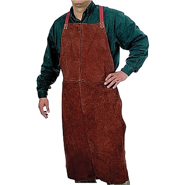 Anchor Brand® Lava Brown Leather Standard Bib Apron, 42 in (L), 24 in (W)