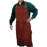 Anchor Brand® Lava Brown Leather Standard Regular Bib Apron, 36 in (L), 24 in (W)