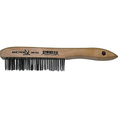 Anchor Brand® Shoe Wood Handle Stainless Steel Bristle Hand Scratch Standard Stapled Fill Brush
