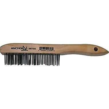 Anchor Brand® Shoe Wood Handle Carbon Steel Bristle Hand Scratch Standard Stapled Fill Brush