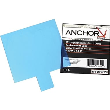 Anchor Brand® Clear 100% Polycarbonate Cover Lens, 4.52 in, 10 1/2 in (W), 4 in, 12 7/8 in (L)