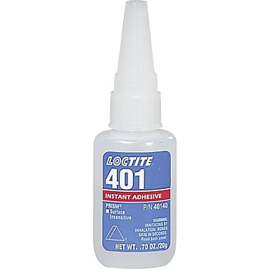 Loctite 401™ Prism® Clear Liquid Instant Surface Insensitive Adhesive, 3 g Tube, 10/Case