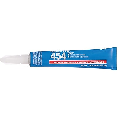 Loctite 454™ Prism® Clear Gel Instant Surface Insensitive Multi Purpose Adhesive, 20 g Tube