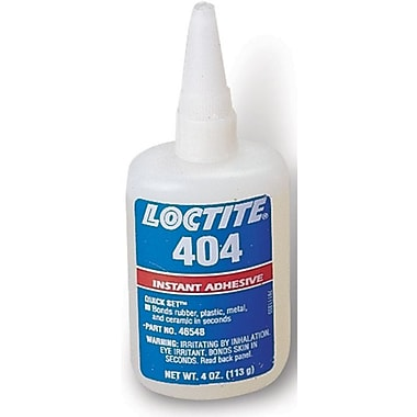 Loctite 404™ Quick Set™ Clear Liquid Instant General Purpose Industrial Adhesive, 4 oz Bottle