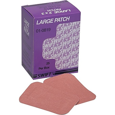 Swift First Aid Heavy Woven Fabric Adhesive Bandage Patch, 3 in (L) x 2 in (W)