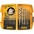 DeWalt® Gold Ferrous Oxide HSS 16 pcs Drill Bit Set, 1/16 - 1/2 in By 1/64 in