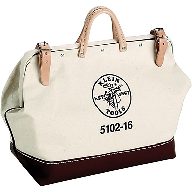 Klein Tools® Canvas Tool Bag, 1 Compartment, 14 in (L) x 14 in (H)