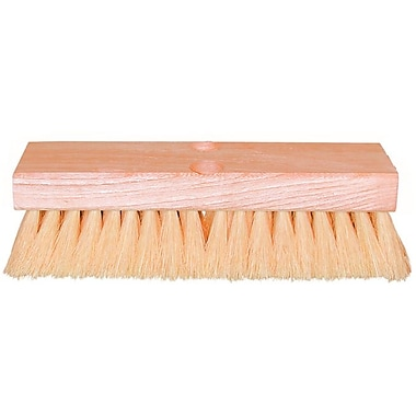 Magnolia Hardwood Handle White Tampico Bristle Deck Scrub Brush