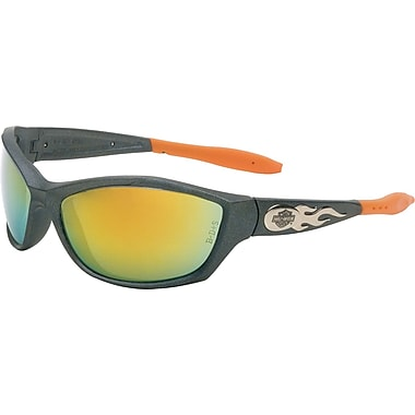 Harley-Davidson® ANSI Z87 HD 1000 Dual Lens Safety Glasses, Orange Mirror