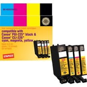 Staples® Remanufactured Black/Color C/M/Y Ink Cartridges Compatible w/Canon PGI-225/CLI-226, 4/Pack