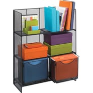 Safco Mesh Fold Up Shelving, Onyx