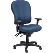 Tempur-Pedic Ergonomic Mid-Back Fabric Task Chair, Adjustable Arms, Blue