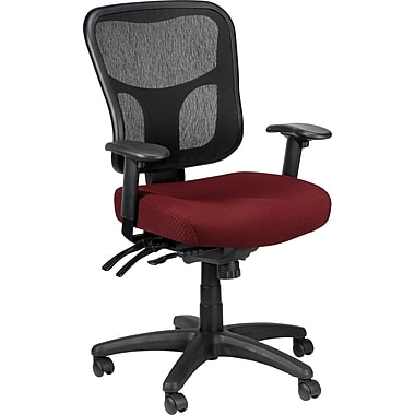 Tempur-Pedic TP8000 Mesh Computer and Desk Office Chair, Burgundy, Fixed Arm (TP8000-BURGUNDY)