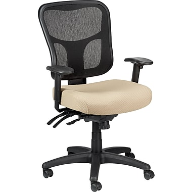 Tempur-Pedic TP8000 Mesh Computer and Desk Office Chair, Beige, Fixed Arm (TP8000-BEIGE)