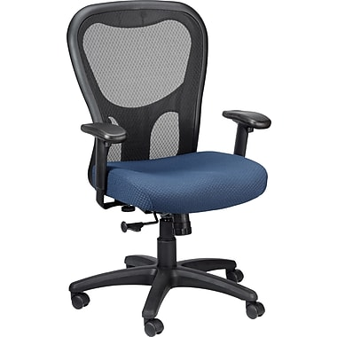 TEMPUR-Pedic Mid-Back Ergonomic Mesh Task Chair, Adjustable Arms, Navy