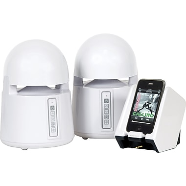 Grace Digital Mini-Bullets II Weatherproof Wireless Speaker System, White