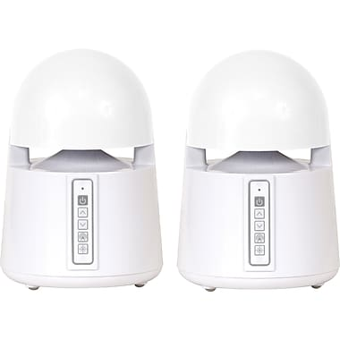 Grace Digital Mini-Bullets II - Weatherproof Wireless Add-on Speakers, White