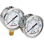 Weksler® Stainless Steel Liquid Filled Gauge, 0 - 5000 psi, 2 1/2 in Dial, 1/4 in NPT BM