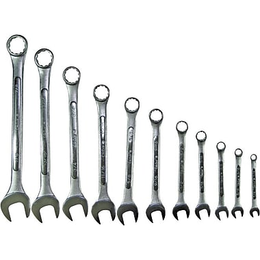 Pony® 12 pcs Chrome Plated Alloy Steel Open/Box Combination Wrench Set, 1/4 - 7/8 in Opening