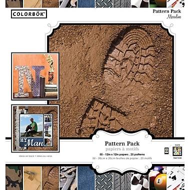Colorbok 12x12 Masculine Pattern Paper