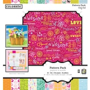 Colorbok 12x12 Girly Girl Patterned Paper Pad