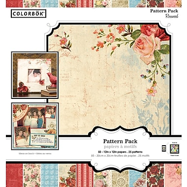 Colorbok 12x12 Inch Rosewood Patterned Paper Pad