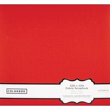 Colorbok 12in Fabric Album, Red