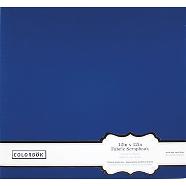Colorbok 12in Fabric Album, Navy