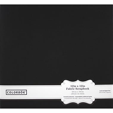 Colorbok 12in Fabric Album, Black