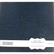 Colorbok 12-Inch Paper Album, Navy Foil Words