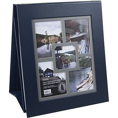 Colorbok 12in Multi Frame Easel Album, Navy Leather
