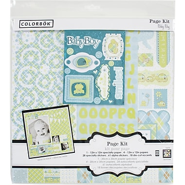Colorbok 12in Page Kit, Baby Boy