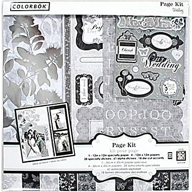 Colorbok 12in Page Kit, Wedding