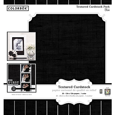 Colorbok 12x12 Textured Cardstock, Blacks