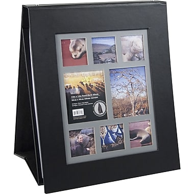 Colorbok 12in Multi Frame Easel Album, Black Leather