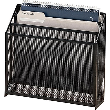 Staples® Metal Mesh 3-Tier File Box, Black